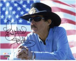 Richard Petty Autographed 8'' x 10'' American Flag Photograph - Mounted Memories