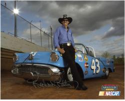 Richard Petty Autographed 8'' x 10'' Photograph - Mounted Memories