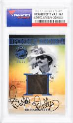 Richard Petty Autographed Slabbed Card with Race Worn Hat