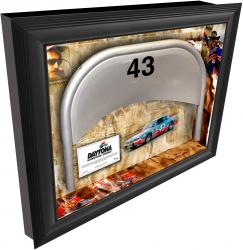 Richard Petty Daytona International Speedway Shadow Box with Metal 43 Seat - Mounted Memories