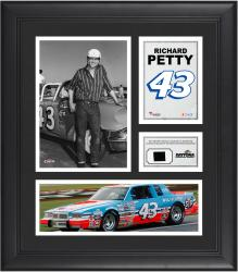"2014 Richard Petty Daytona International Speedway 15"" x 17""  Framed Collage with Race-Used Sign"
