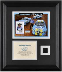 Richard Petty Framed 50th Anniversary Photo with Stamp and Tire - Mounted Memories