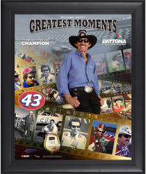Richard Petty Framed 16'' x 20'' Film Strip Composite with Piece of Daytona Sign-Limited Edition of 500 - Mounted Memories
