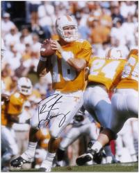 "Peyton Manning University of Tennessee Autographed 16"" x 20"" Photo"