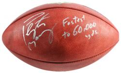 "Denver Broncos Peyton Manning Autographed Wilson NFL Football with ""Fastest to 60K"" Inscription - Mounted Memories"