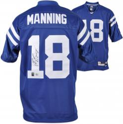 Peyton Manning Indianapolis Colts Autographed Reebok Blue EQT Jersey