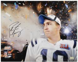 Indianapolis Colts Peyton Manning Autographed 16'' x 20'' Super Bowl XLI Photo - - Mounted Memories