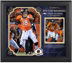 Peyton Manning Denver Broncos 7 Touchdowns Framed 15'' x 17'' Collage with Piece of Game-Used Football - Limited Edition of 500 - Mounted Memories