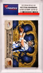 Peyton Manning Denver Broncos Autographed 2012 Crown Royale #62 Card