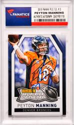 Peyton Manning Denver Broncos Autographed 2013 Panini Player of the Day #2 Card
