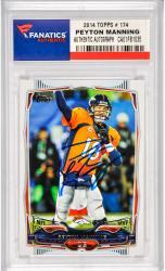 Peyton Manning Denver Broncos Autographed 2014 Topps #174 Card