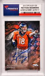 Peyton Manning Denver Broncos Autographed 2014 Topps Valor #200 Card