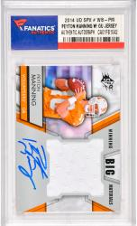 Peyton Manning Denver Broncos Autographed 2014 Upper Deck SPX #WB-PM Card with a Piece of Game Worn Jersey