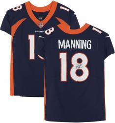 Peyton Manning Denver Broncos Autographed Navy Blue Nike Elite Jersey
