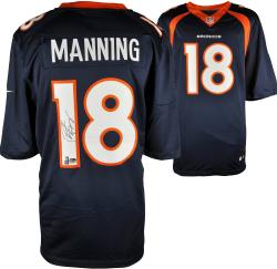 Peyton Manning Denver Broncos Autographed Nike Navy Limited Jersey