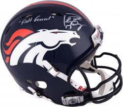 "Peyton Manning Denver Broncos Autographed Riddell Pro-Line Revolution Authentic Helmet with ""Field General"" Inscription"