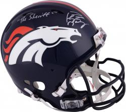 "Peyton Manning Denver Broncos Autographed Riddell Pro-Line Revolution Authentic Helmet with ""The Sheriff"" Inscription"