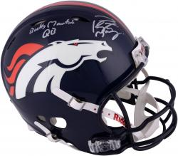 Peyton Manning Denver Broncos Autographed Riddell Pro-Line Revolution Helmet with Rocky Mountain QB Insciption