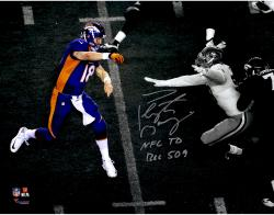 "Peyton Manning Denver Broncos Becomes NFL All-Time Passing Touchdown Record Leader Autographed 11'' x 14'' Spotlight Photograph with ""NFL TD REC 509"" Inscription"