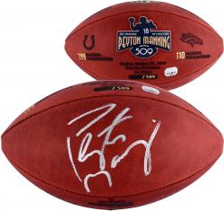 Peyton Manning Denver Broncos Becomes NFL All-Time Passing Touchdown Record Leader Autographed Commemorative Duke Pro Football - Limited Edition #2-17, 19-509 of 509