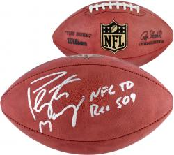 "Peyton Manning Denver Broncos Becomes NFL All-Time Passing Touchdown Record Leader Autographed Duke Pro Football with ""NFL TD REC 509 10/19/14"" Inscription"