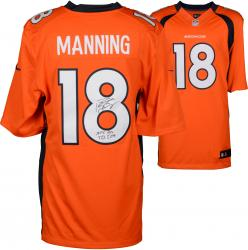 "Peyton Manning Denver Broncos  Becomes NFL All-Time Passing Touchdown Record Leader Autographed Orange Nike Limited Jersey with ""NFL TD REC 509"" Inscription"