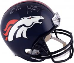 "Peyton Manning Denver Broncos Becomes NFL All-Time Passing Touchdown Record Leader Autographed Riddell Replica Helmet with ""NFL TD REC 509 10/19/14"" Inscription"