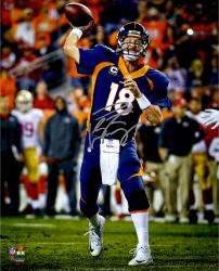 "Peyton Manning Denver Broncos Becomes NFL All-Time Touchdown Passing Record Leader Autographed  16"" X 20"" Photograph"