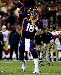 "Peyton Manning Denver Broncos Becomes NFL All-Time Touchdown Passing Record Leader Autographed 16"" x 20"" Photograph with ""NFL TD REC 509 10/19/14"" Inscription"