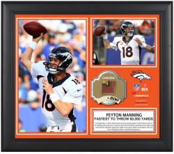 "Denver Broncos Peyton Manning Fastest to 60K Framed 15"" x 17"" Collage with Game-Used Ball - Limited Edition of 500"