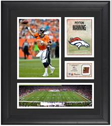 "Peyton Manning Denver Broncos Framed 15"" x 17"" Collage with Game-Used Football"