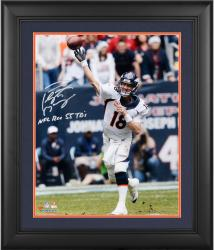 "Peyton Manning Denver Broncos Framed Autographed 16"" x 20"" Photograph with NFL Rec 55 TDS Inscription"