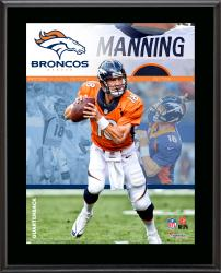 "Peyton Manning Denver Broncos Sublimated 10.5"" x 13"" Composite Plaque"