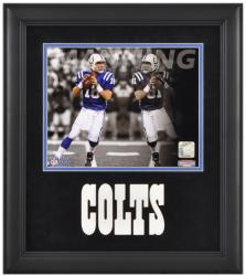 Peyton Manning Indianapolis Colts Framed 8'' x 10'' Reflections Photograph - Mounted Memories