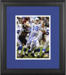 "Peyton Manning Indianapolis Colts Framed Autographed 8"" x 10"" vs Houston Texans Photograph"