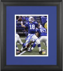 "Peyton Manning Indianapolis Colts Framed Autographed 8"" x 10"" vs San Francisco 49ers Photograph"