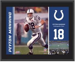 Indianapolis Colts Peyton Manning 10.5'' x 13'' Sublimated Plaque - Mounted Memories