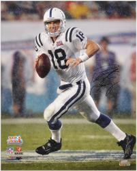 Indianapolis Colts Peyton Manning Autographed 16'' x 20'' Super Bowl XLI Photo - Mounted Memories