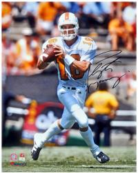 Peyton Manning Tennessee Volunteers Autographed 16'' x 20'' Passing Photograph - Mounted Memories