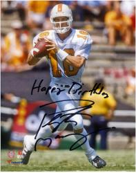 Peyton Manning Tennessee Volunteers Autographed 8'' x 10'' Photograph with Happy Birthday Inscription - Mounted Memories