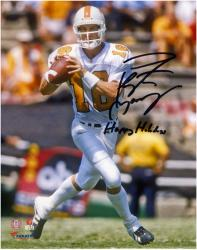 Peyton Manning Tennessee Volunteers Autographed 8'' x 10'' Photograph with Happy Holidays Inscription - Mounted Memories