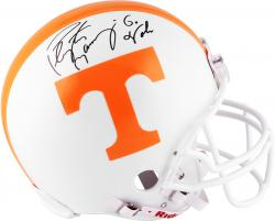 Peyton Manning Tennessee Volunteers Autographed Riddell Pro Helmet with Go Vols Inscription - Mounted Memories