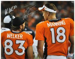 Peyton Manning & Wes Welker Denver Broncos Autographed 16'' x 20'' Back Shot Photograph