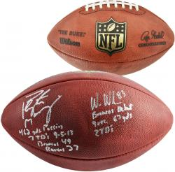 Peyton Manning & Wes Welker Denver Broncos Autographed Pro Football with Multiple Inscriptions