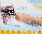 "Michael Phelps Autographed 16"" x 20"" 2008 Olympics Swimming Photograph"