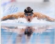 "Michael Phelps Autographed 16"" x 20"" Swimming Photograph"