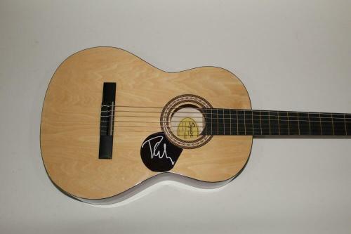 Phil Collen Signed Autograph Fender Brand Acoustic Guitar - Def Leppard Hysteria