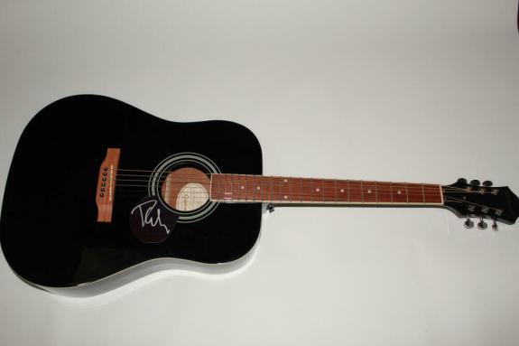 Phil Collen Signed Autograph Gibson Epiphone Acoustic Guitar - Def Leppard, Rare