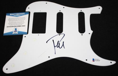 Phil Collen signed pickguard, Def Leppard, Rock of Ages, Hysteria, Beckett BAS