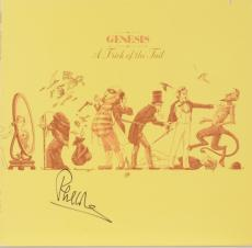 Phil Collins Autographed Genesis A Trick of The Tail Album Cover With Black Ink - PSA/DNA COA